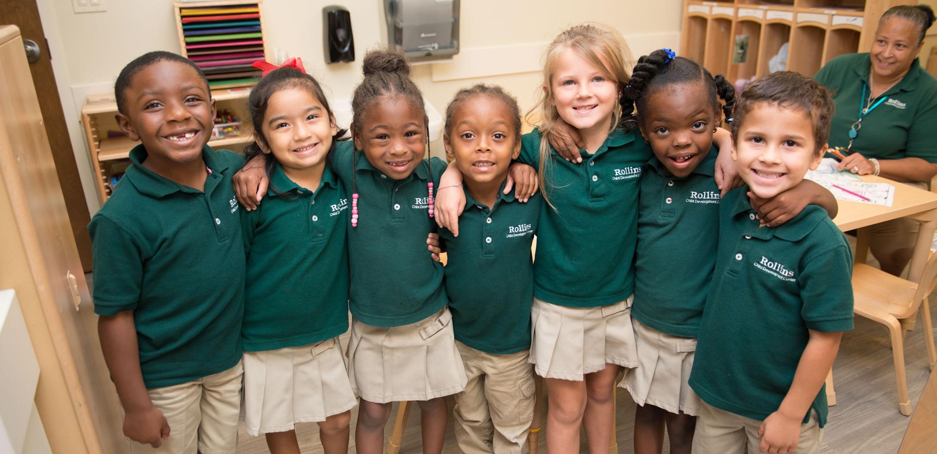 Kids at Rollins Child Development Center